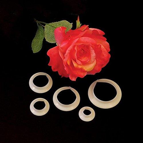 FMM Sugarcraft CUTROP Rose Petal Set of 5 - Petal Rose Cutter
