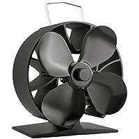 Ventilador de la estufa de la ronda 4 cuchillas ventilador ahorro de combustible ventilador de la estufa de aluminio sólida ventilador de la estufa de alta calidad ecológico ventilador para el hogar
