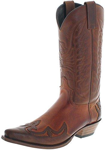 Sendra Boots Damen Herren Cowboy Stiefel 13170 Westernstiefel Braun 43 EU