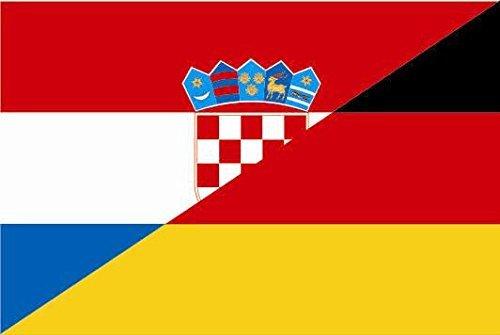 U24 Fahne Flagge Kroatien-Deutschland Bootsflagge Premiumqualität 20 x 30 cm