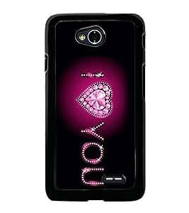I Love You 2D Hard Polycarbonate Designer Back Case Cover for LG L70