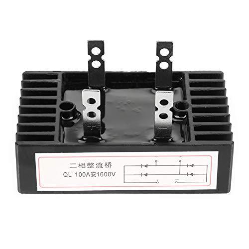 Brückengleichrichter - 1pc 100A Amp 1600V Spannung 2-Phasen-Diode Brückengleichrichter High Power Black - Brückengleichrichter Spannung