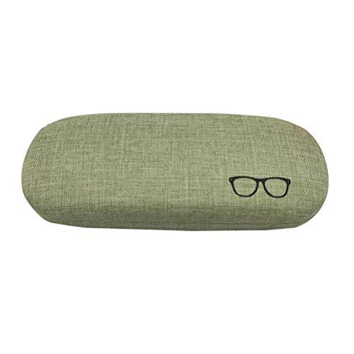 Healifty Sonnenbrillen-Box 1 stück Retro Brille Box Elegante Baumwolle und Leinen Kreative Vintage Kurze Brillenetui (Grün)