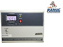 Rahul H-50140 c 5 KVA/20 AMP In Put 140-280 Volt 3 Step Best Suitable For 2 Tonns Air Conditioners Auto Matic Copper Voltage Stabilizer