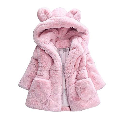 e206c6300 Niños Bebé Invierno Abrigos niñas Lana Chaqueta con Capucha cálido Gruesa  Capa Abrigo Ropa Bebé por