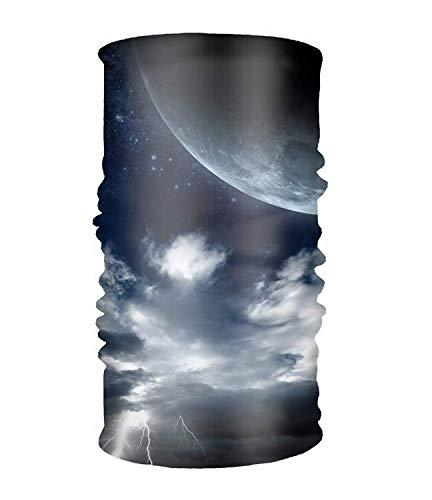 Wfispiy Stirnband Ocean Cloud Moon Night Headwear Sport Sweatband Yoga Kopf Wickeln for Men Women Damen-cloud-cover-rock
