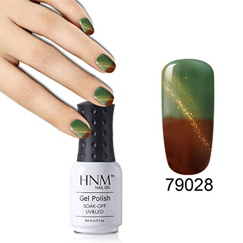 thermique Couleur changeant œil de chat Vernis à ongles gel HNM UV LED Soak Off Gel vernis à ongles gloss Creative Motif Nail Art Salon Manucure Pédicure laque 8 ml