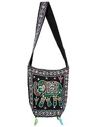 Black Sling Bag For Girls Jhola Bags Hand Bag Girls Jhola Bags Jaipuri Rajasthani For Girl Jaipuri Rajasthani...