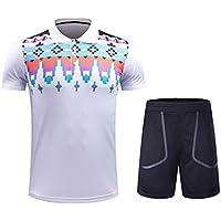 Kuncg Schnell Trocken Badminton Tragen Anzug Atmungsaktiv Sportswear Benutzerdefinierte Kurzarm-Shirt Für Herren und Jungen Für Herren und Jungen