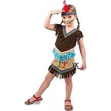 Disfraz De Indio Niñas Vestido Indio Talla 98 104 110 Niña India Niños Carnaval