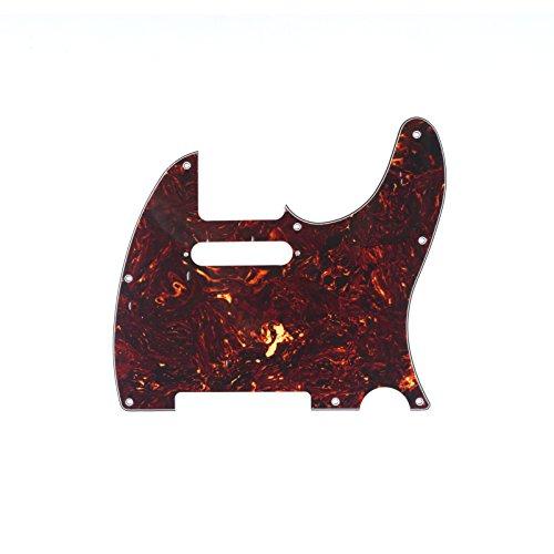 Musiclily Tele Pickguard per la US / Messico Realizzato Fender Standard Telecaster Stile Moderno chitarra elettrica, 4ply celluloide Brown Tortoise - Moderna Basso Elettrico