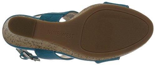 Nine West Lucini Pompe de cale synthétique Turquoise/Turquoise