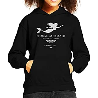 House Mermaid Bubbles Are Coming Game Of Thrones Kid's Hooded Sweatshirt