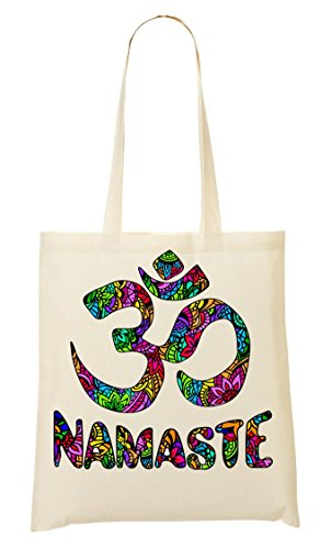 Yoga-tote Namaste (Namaste | Words | Spiritual Collection | Meditation | Popular | Nice To | | Yoga | India | Faith | Swag | Yolo | Cool T Shirt Tragetasche Einkaufstasche)