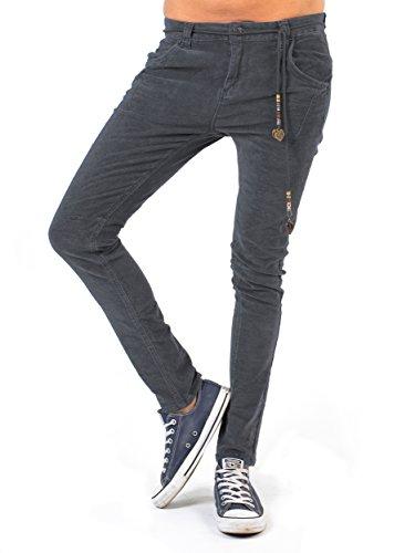 BIANCO JEANS Damen Hose B.F. Velvet - lockere Boyfriend Jeans aus samtigem Stoff - Grayisch - 38 (High-cut Lycra Baumwolle)
