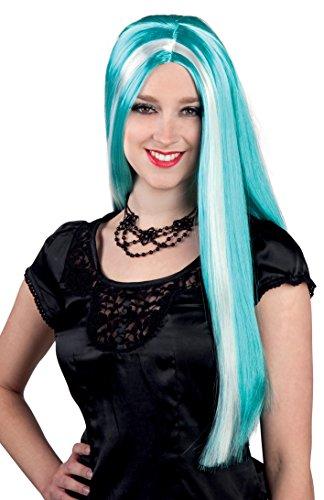 Perücke Aurora Kostüm Für Erwachsene - Boland 86076 - Perücke Hexe Aurora, türkis / weiß