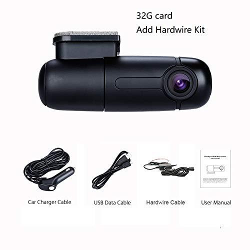 NPNPNP Aufnahmegerät Fahren Dash-Kamera Auto Recorder Mini Dvr Car Cam 1080p Full Hd Wi-fi Dashcam Parking Mode Driving Recorder G-Sensor Armaturenbrett Carcam 32G-Karte Hardwire Kit hinzufügen Dvr Card Kit