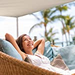 Relaxdays Sonnensegel rechteckig, wasserabweisend, UV-beständig, mit Spannseilen, Terrasse, Balkon, BxT: 2 x 3 m, beige