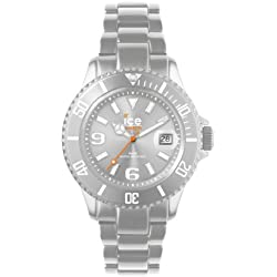 Ice-Watch Silver Ice-Alu Unisex Aluminium Bracelet Watch AL.SR.U.A.12