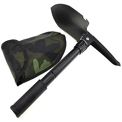 Pliante Pelle multi-fonction militaire Portable Mini Folding Camping Pelle de survie Spade Truelle Outil de jardin extérieur d'urgence
