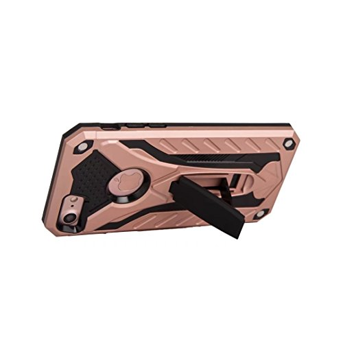 Neue hybride Rüstung schützende rückseitige Abdeckung Shockproof Doppelschicht PC + TPU rückseitige Abdeckung mit Kickstand für iPhone 7 ( Color : Rosegold ) Rosegold