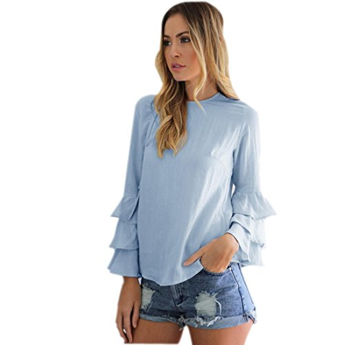 ESAILQ Damen T Shirt Damen Sommer Bluse Damen Weste Tank Top Crop Lose Blusen Große Größe Mode ()