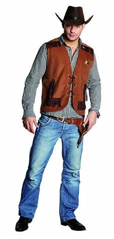 Wilder Westen Herren Kostüm Cowboy Weste Sheriffweste Karneval Gr.54