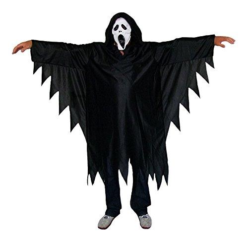 Scream Horror Dämon Kostüm für Kinder mit Maske Gr. 140