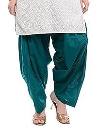 Kurti Studio Women Frozy Green Semi Patiala Salwar