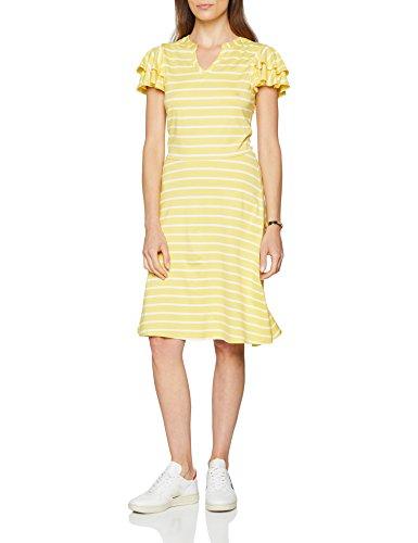 ESPRIT Damen Kleid 058EE1E003, Mehrfarbig (Yellow 750), X-Large