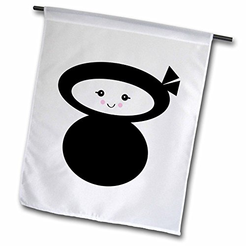 3drose FL _ 102732 _ 1 Cute Ninja kawaii Dolly Garten Flagge, 12 von 18 (Kawaii Ninja)