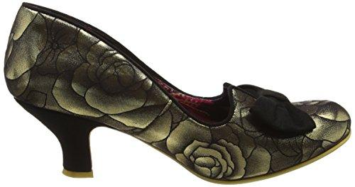 Irregular Choice Dazzle Razzle, Escarpins Femme Black (Gold/Black)