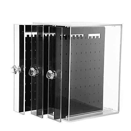 BUONDAC 270 Agujeros Joyero Colgador Organizador Pendientes Joyas de Acrilico Caja Pendientes Transparente