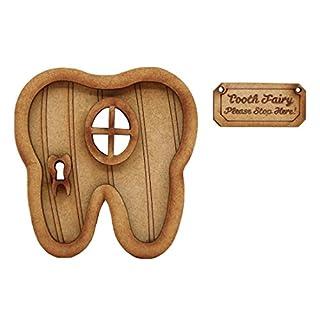 Zahnfee Tür. dreidimensionale Selbstmontage Holz Fairy Tür Craft Kit mit 'Zahnfee