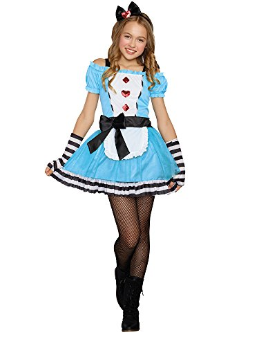 Amscan Kinder Alice Im Wunderland Mädchen Buch Tag Kostüm Verkleidung - Mehrfarbig, EU 128-140