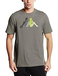 Kappa paridera-Camiseta de manga corta para hombre Gris Grey Cloud Talla:M (talla del fabricante: M)