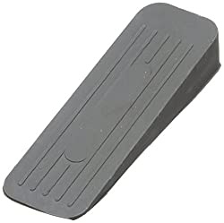 Bulk Hardware BH02509 Deluxe Heavy Duty Non-Slip Rubber Door Wedge Stopper, Grey