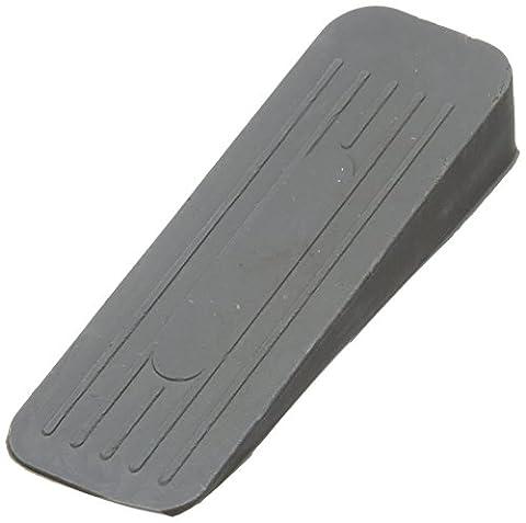 Bulk Hardware BH02509 Deluxe Heavy Duty Non-Slip Rubber Door Wedge Stopper, Grey