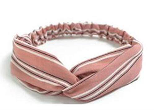 JING Kopfbedeckung Kopfschmuck Plaid Bow Stirnband Turban Gestreifte Haarbänder 36