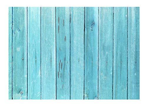 Kate Blue Wood Wall Kulissen für Fotografie 7x5ft Vintage für Hochzeit Hintergrund schießen (5x7 Hochzeit Rahmen)