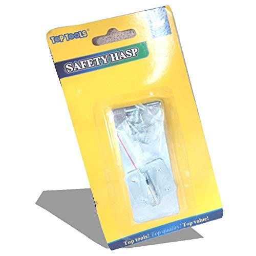 Top Tools Sicherheitsschloss für Tür, Schuppen, 8,9 cm, stabil, silberfarbenes Metall -