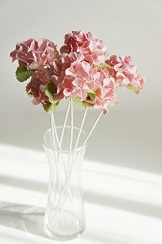 plawanature Set von 6Pink Hortensie Maulbeer-Papier Blume mit Reed Diffusor für Home Duft Aroma Öl. (Diffusor Reed Aroma)