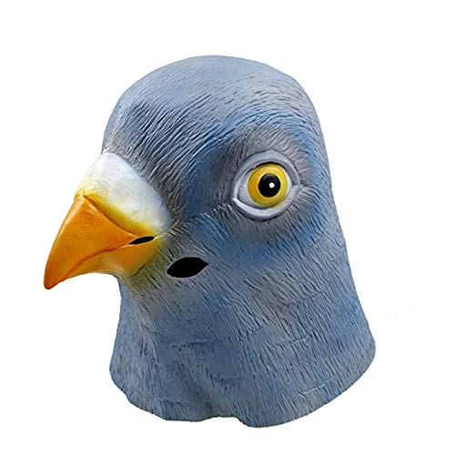 üm Party Tierkopf Latex Masken Tauben ()