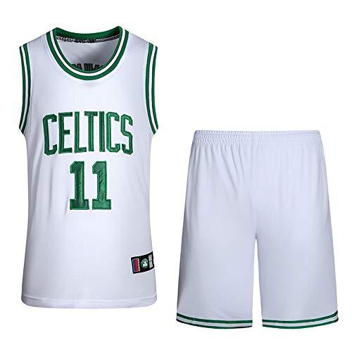 BUY-TO Maillot NBA Celtics Owen Shorts Tenue de Basket numéro 11,White,S