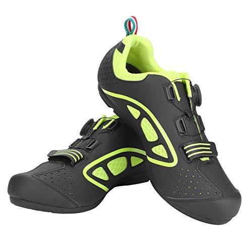 Tbest Scarpe da Bici,1 Paio di Scarpe da Ciclismo su Strada Uomini Traspiranti per Adulti Scarpe da Ciclismo Anti-Scivolo per MTB Mountain Bike(42-Verde)