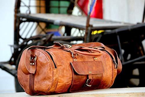 Sankalp Leather Handgemachte Vintage, Leder Reisetasche, Sporttasche, Ausflugstasche, 100% echtes Leder mit Kostenlosem Versand, 2019 SALE- nur noch 2 TAGE