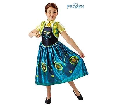 Disney Princesas Disfraz Anna Fever Deluxe, para niñas, color azul y amarillo (Rubie's 610904) por Rubie's