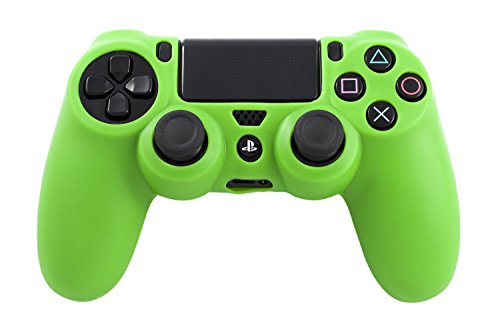 GAMINGER Custodia cover gel in gomma siliconica protettiva per Dualshock Controller Sony Playstation 4 - Verde
