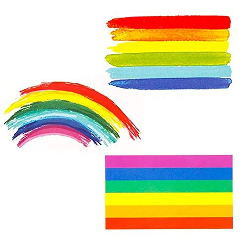 n Sticker temporär - Rainbow Regenbogen-Farben Pride LGBT (02) ()