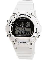 Casio - W-214HC-7A - Montre Mixte - Quartz Digitale - Bracelet Résine Blanc